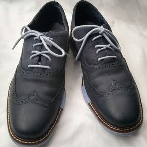 Cole Haan Navy Leather/Suede Wingtip Oxford Shoes